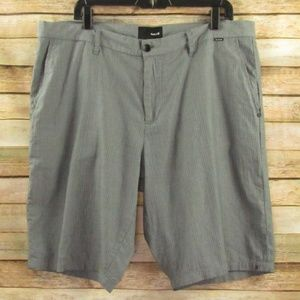 Hurley Men's Charcoal/Gray Pinstripe Shorts 36